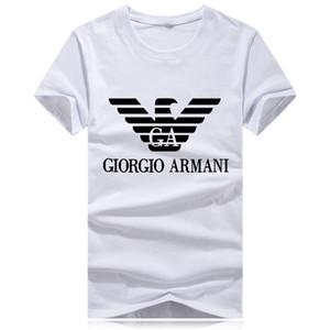Itália C6 / AMANI estilistas de luxo para homem T-shirt de verão O pescoço de impressão de manga curta T-shirt dos homens da marca e meninos shir das mulheres camiseta polo