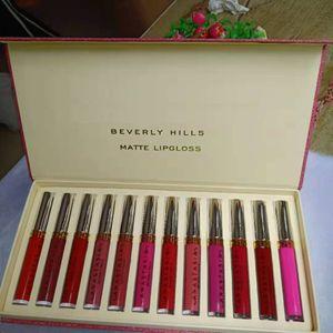 El nuevo maquillaje caliente nuevo set de lápices labiales 12 unids / set Luquid mate 12colors Lip Gloss DHL envío