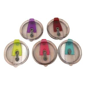 6 색 스테인레스 스틸 잔 자동차 컵 음료 용기 뚜껑 30 온스 플립 뚜껑 유출 방지 스플래시 방지 캡 방수 씰 커버