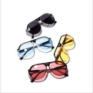 Le donne grandi della pagina occhiali da sole Retro riflettenti dello specchio degli occhiali da sole trasparente metallo chiaro di colore della caramella di Sunglass Eyewear Outdoor CNY1065