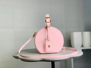 Designer Handbag Flowers Letters Wristlet Round Cakes Banquet Totes Shoulder Bags Genuine Leather Women Clutch Messenger Bag Crossbody DD0