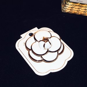2017 New High-End Rose Camellia Brooch Silk Scarf Buckle Valentines Day Gift Accessories