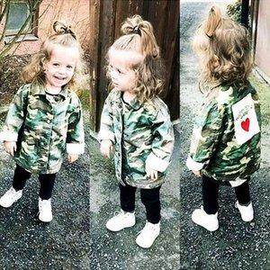 Kız bebekler Ceket Hırka 2019 Moda İlkbahar Sonbahar Kamuflaj Sıcak Coats Boys Ordu Çocuk Rüzgarlık Kabanlar Giyim