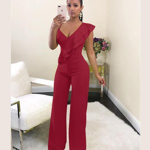 FANIECES Off shoulder women jumpsuit Elegant stylish jumpsuit Layered ruffles high waist jumpsuits Female overalls streetwear