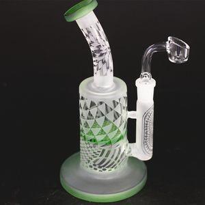 Nouveau sableuse recycleur tuyau d'eau en verre bong 8,5 pouces plate-forme dab verre capiteux mini-plate-forme pétrolière avec une grande pipe
