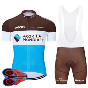 2020 Pro Team AG2R Cycling Jersey 9D Bib Set biciclette Abbigliamento Ropa Ciclismo Bike indossare abiti Mens Breve Maillot Culotte