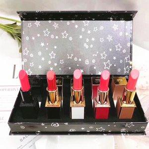 5pcs / set T0M F0RD Matte Lipstick Foundation Makeup rouge um lèvre Listicks Lip Gloss Lipgloss Maquiagem Kit