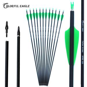 """28 """"/ 30"""" / 31"""" tiro com arco caça Mix seta de carbono para recurvo arco arco composto arrow Tiro Target Practice"""