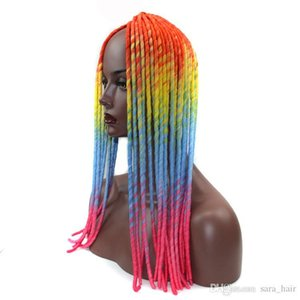 Afro Woman Bulk Hair Ombre Havana Mambo Twist Crochet Braiding Hair 50cm20inch 20Roots Set Senegalese Braids Hair Extension Freetress