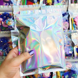20X30Cm Resealable Aluminum Foil Bags Holographic Resealable Bags Translucent Pouches Designs Rings Packaging Bag 40Xnq hotclipper siNJJ