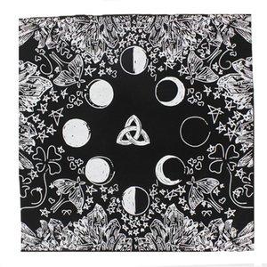 Samt Tarot Tischdecke mit Tasche Hexe Divination Mondphasen-Liebhaber Luna-Motten-Altar Cloth Brettspiel-Karte Pad