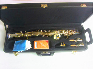 High Quality B flat Soprano Saxophone Musical Instruments Sax Brass nickel Silver-plated With Case Professional