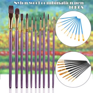 Nouveaux 10pcs / set peinture aquarelle Pen Paintbrush Nylon cheveux Brosses Artiste Peinture à l'huile Pinceau Set DOM668