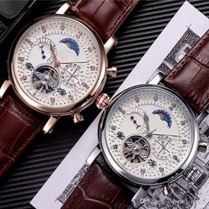 18ct luxury men watch day date diamond dial swiss tourbillon mechanical automatic wristwatches for men Steel Watches Relogio Masculino Clock