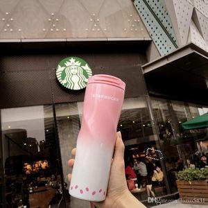 Новый Starbucks Сакура розовая спираль вакуумная чашка из нержавеющей стали сопроводительная чашка Cherry Blossom series out dooor sport 473 мл кофейная чашка