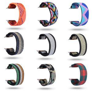 Эластичный корд Виды печати Нейлон ремни для волос Группа Смарт Часы Переносные Сменной ремешок Подходит для Apple, часы iWatch браслета