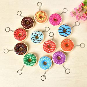 Pu Donut Bubbler Squishy Keychain Enfants Adultes Décompression Jouets Cadeaux De Noël XD19995