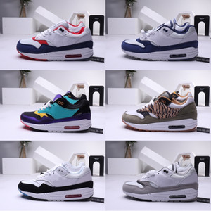 Vendita calda Uomo Atmos 87 Anniversary 1 Piet Parra 87 Premium 1 DELUXE WATERMELON Scarpe da corsa multicolore Sneaker da donna design