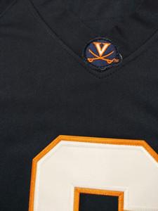 CUSTOM homens, jovens, mulheres, criança, UVA Cavalierss personalizado ALGUM NOME E NÚMERO DE QUALQUER TAMANHO jersey costurado Top Quality Colégio