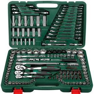 Outils pour 1/4 « 1/2 » Outils de réparation de voiture Clé à cliquet Spanner Combinaison de l'outil Auto Kits douilles d'outils à main