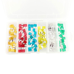 CAR 120 PCS MINI CAR FUSE ASSORTMENT Set 6 Sizes 5-30 AMP Auto Parts Blade Fuse