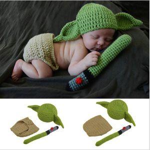 Hot Häkelarbeit-Baby-Hut Mütze Neugeborene Jungen-Karikatur-Kostüm Fotografia Props Weihnachten Outfits Infant Fotozubehör