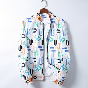 2020 luxury Fashion Jacket Windbreaker Long Sleeve Mens Jackets Hoodie Clothing Zipper with Animal Letter Pattern Plus Size Clothes M-3XL