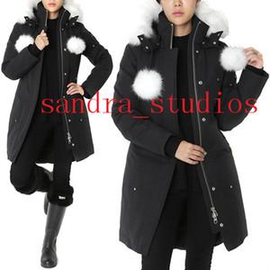 @Sandra_studios топ черные дамы Стерлинг длинные парки с капюшоном с реальной лисической меховой воротником 925 серебряные ножницы на руке