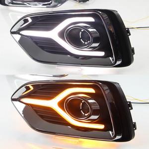 2017 2018 2019 Işık Sis Lambası İçin Hyundai Accent Solaris Running 1 Çifti Sarı Dönüş Sinyal İşlevi 12V Araba DRL LED Gündüz