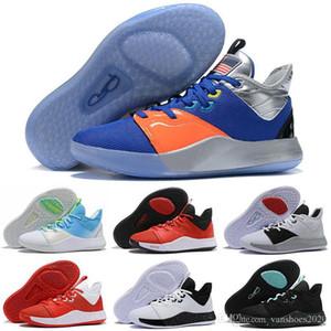 Basketbol PG 3 NASA Apollo Görevler 2020 Erkek Paul George Ayakkabı 50 Yansıtıcı ABD BHM Palmdale 93552 3s III Lüks Sneakers ABD 7-12