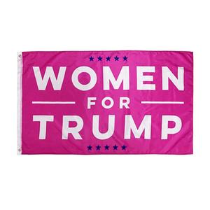 90 * 150 cm Donald Trump Flag Women Banner USA 2020 Elección presidencial Bandera Niñas Mujeres Banderas rojas HHA597