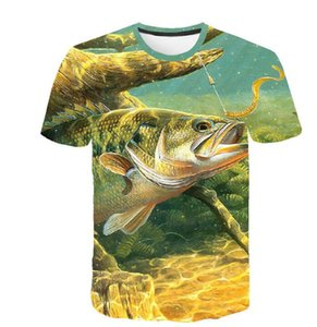 2019 summer new 3D digital printing underwater world series casual slim men's T-shirt
