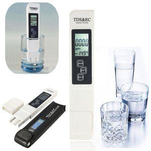 3 em 1 tds EC Digital Multi-função Monitor LCD TDS EC Meter Ferramenta de Teste de Medição De Água
