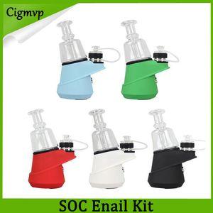 Original G9 SOC Enail Kit Matt Colors Wax Concentrate Shatter Dab Rig Dry Herb Vaporizer ecig Pen Glass Bong