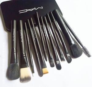 12 unids M AC Marca Pinceles de Maquillaje Conjuntos de Kit de Maquillaje Cepillo Brocha de maquillaje DHL Envío Gratis