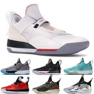 Nuovo arrivo Jumpman 33 33s XXXIII Mens scarpe da basket SE bianco palestra rosso nero cemento grigio Guo Ailun Travis Scott Mens scarpe da ginnastica Sneakers