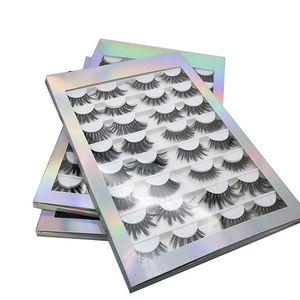 16 쌍은 거짓 속눈썹 책 3D 5D 8D 가짜 밍크 속눈썹 수제 푹신한 눈 속눈썹 진짜 밍크 속눈썹 메이크업 두꺼운 가짜 속눈썹을 25MM