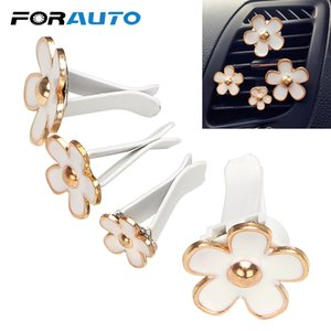 FORAUTO 4Pcs Set Car Air Vent Perfume Air Freshener Flower with Clip Solid Fragrance Car-styling Auto Decors Romantic