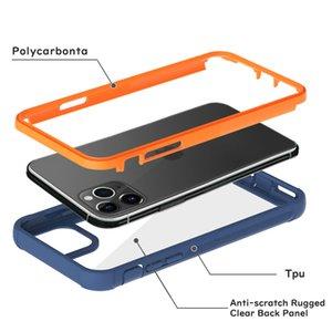 Новый жесткий PC Передняя Акриловая Двойной чехол для телефона iPhone 11 Pro Max Samsung S20 Ультра A20 A30 A50 A01 A10E Clear Panel противоударный Cover Defender