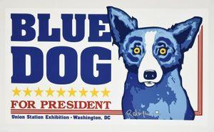 Станция George Rodrigue Синего Dog Union Home Decor расписанная HD Печать картина масло на холст Wall Art Холст картинки 200113