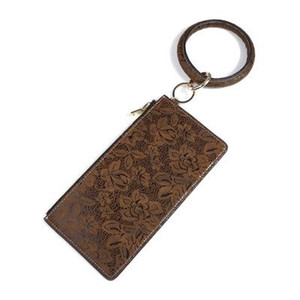 Кошелек кожаного PU сумки женщин браслет брелок Zipper цветок дама моды кошелек мини сумка монеты Кошелек с круговыми кольцами