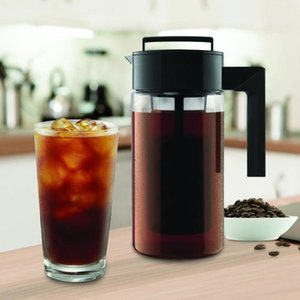 900ML Cold Brew Iced Coffee Maker With Airtight Seal Silicone Handle Coffee Kettle Non-slip silicone handle Pots 20May