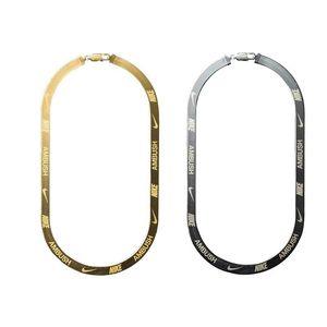 AMBUSH X hook HERRINGBONE LOGO Collar de cadena de metal Pulsera cinturones Hombres Mujeres Hip Hop Outdoor Street Accesorios Festival Regalo envío gratis