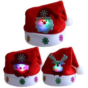 LED cappello di Natale si illumina di Santa pupazzo di neve cappello alce regali di Natale per i bambini e gli adulti XD22142