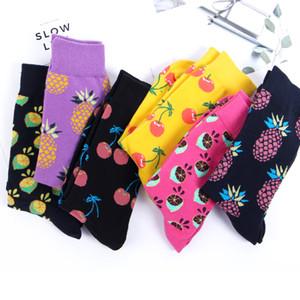Commercio all'ingrosso 6 paia / lotto Color Crew Cotton Happy Socks Uomo Donna Stile Britannico Casual Harajuku Designer Novità Art For Couple Fun