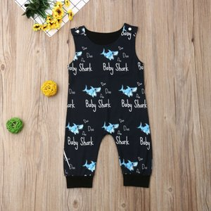 UK Stock Новорожденного мальчик одежда Shark Ромперы Комбинезон Один шт Эпикировка 0-24Й