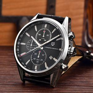 Gli uomini di modo classico superiore di marca orologio al quarzo multifunzione Orologi Sportivi Militari Uomini Relogio MASCULINO Pagani design Dive 30M