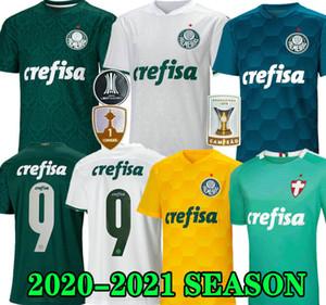 Top quality 20 21 Palmeiras SOCCER JERSEY HOME GREEN DUDO G.JESUS JEAN ALECSANDRO 2020 Palmeiras Away ALLIONE CLEITON XAVIER football SHIRTS
