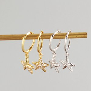 Five-pointed Star Drop Earring 925 Sterling Silver Women Zircon Earring Earrings For Women Korean Fashion Jewelry Accessories