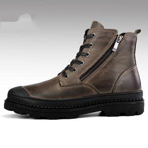 Hot Sale-Botas Hombre Classic caviglia lavoro Stivali primo strato di scarpe stivali autunno utensili in pelle da uomo